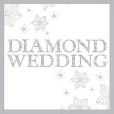 Diamond Wedding Card
