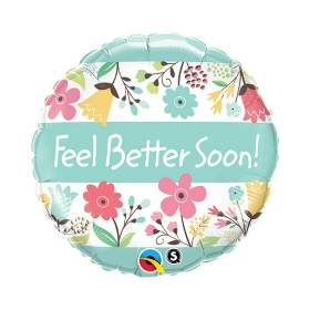 Get Well Soon Balloon  Floral