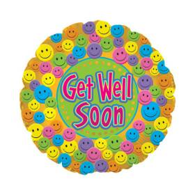 Get Well Soon Balloon  Happy Faces