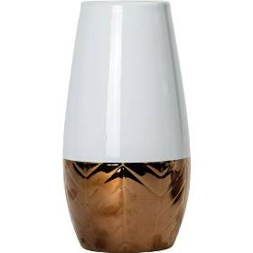 Rose Gold Ceramic Bullet Vase