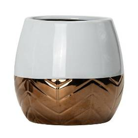 Round Rose Gold Ceramic Vase