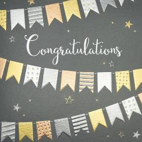 Sparkle Banner Congratulations Card